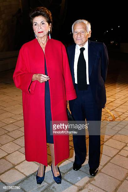 Count and Countess Jean d'Ormesson attend the Foundation Louis Vuitton Opening at Foundation Louis Vuitton on October 20 2014 in BoulogneBillancourt...