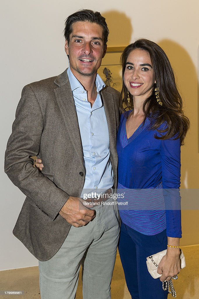 Count and Countess Jean-Francois de Clermont Tonnerre attend the Georg Baselitz exhibition preview and dinner at Thaddeus Ropac Gallery on September 7, 2013 in Pantin, east of Paris, France. The exhibition opens on September 8.