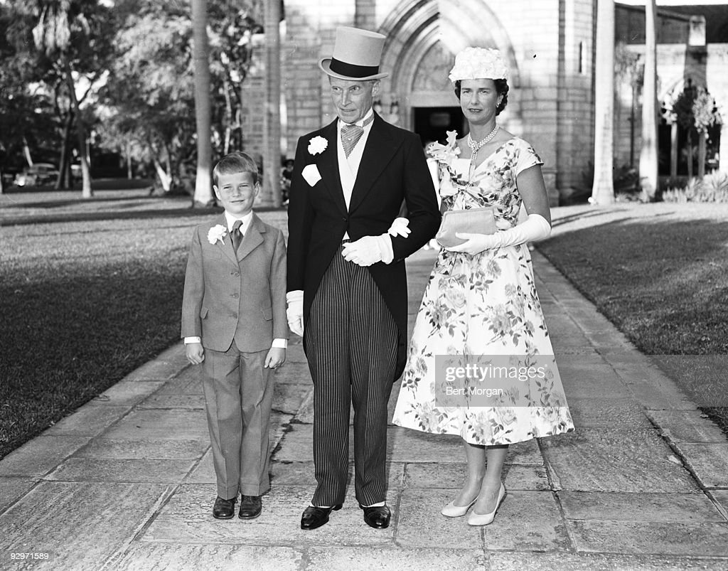Count and Countess Kurt Haugwitz Reventlow and their son Richard Reventlow in Palm Beach, Florida, January 5, 1957