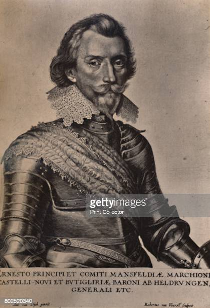 Count Ernst von Mansfeld German general of the Thirty Years War 17th century From A Collection of Engraved Portraits Exhibited by the Late James...
