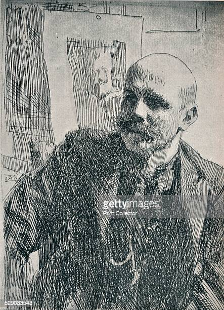 Count Georg von Rosen Swedish painter 1893 After an etching by Anders Leonard Zorn From The Studio Volume Twelve by [London Offices of the Studio V...