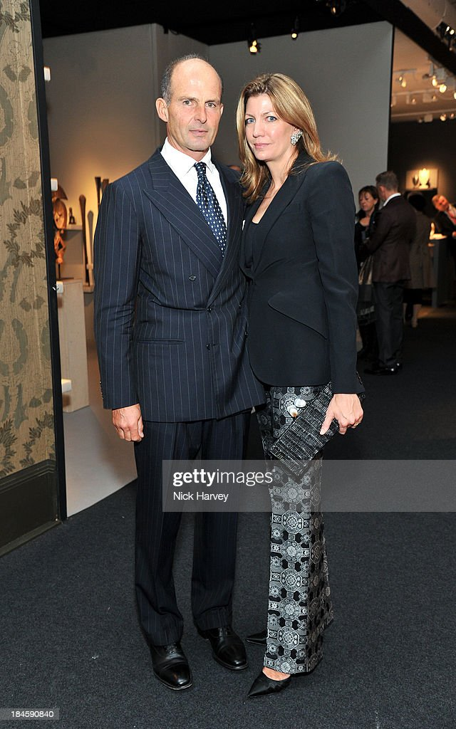 Count Riccardo Pavoncelli and Countess Cosima von Bulow Pavoncelli attend the collectors preview for PAD London at Berkeley Square Gardens on October 14, 2013 in London, England.