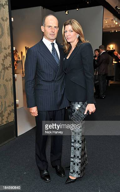 Count Riccardo Pavoncelli and Countess Cosima von Bulow Pavoncelli attend the collectors preview for PAD London at Berkeley Square Gardens on October...