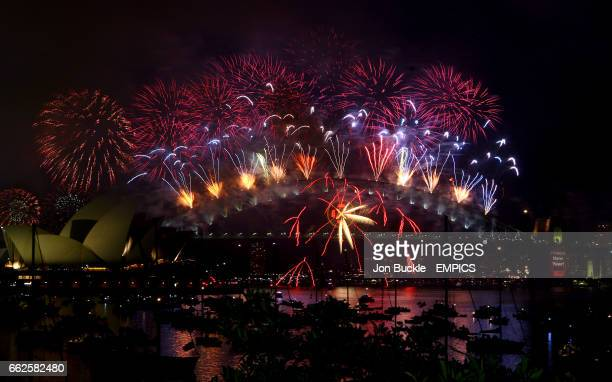 Countdown to New Year's Day is kicked off with fireworks over the Sydney Opera House and Sydney Harbour Bridge