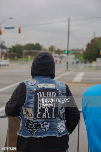Counter Protesters came from a wide array of groups to stand against in Shelbyville Tennessee Illinois US on 28 Ocotber 2017