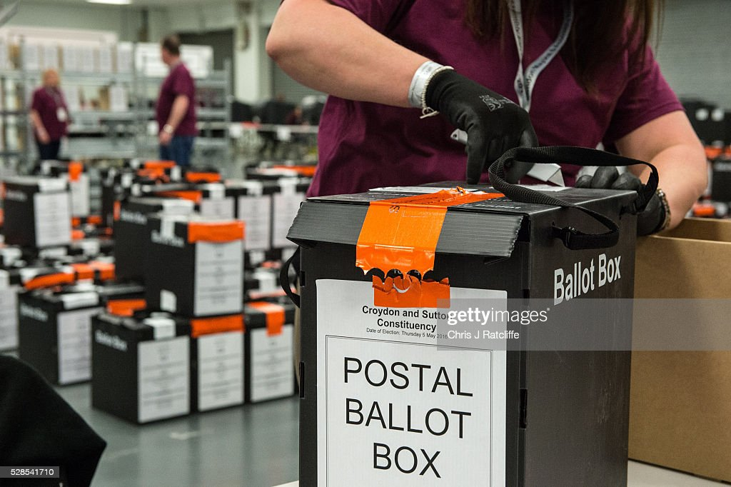 Counters open ballot ballot boxes during the London Mayoral and Assembly election count at Kensington Olympia on May 6, 2016 in London, England. This is the fifth mayoral election since the position was created in 2000. Previous London Mayors are Ken Livingstone for Labour and more recently Boris Johnson for the Conservatives. The main candidates for 2016 are Sadiq Khan, Labour, Zac Goldsmith, Conservative, Sian Berry, Green, Caroline Pidgeon, Liberal Democrat, George Galloway, Respect, Peter Whittle, UKIP and Sophie Walker, Wonmen's Equality Party.