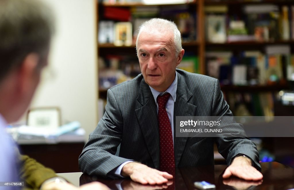 EU counter-terrorism chief <a gi-track='captionPersonalityLinkClicked' href=/galleries/search?phrase=Gilles+de+Kerchove&family=editorial&specificpeople=4505334 ng-click='$event.stopPropagation()'>Gilles de Kerchove</a> gives an interview on January 13, 2015 to Agence France-Presse (AFP) in reaction to last week's deadly terrorist attacks in Paris in his office at European Coucil headquarters in Brussels. De Kerchove said 'we can't prevent 100 percent' a new Islamist attack like those in Paris. He also said he opposed jailing jihadists who return to Europe from Syria or Iraq, calling prison a 'massive incubator' of radicalisation.