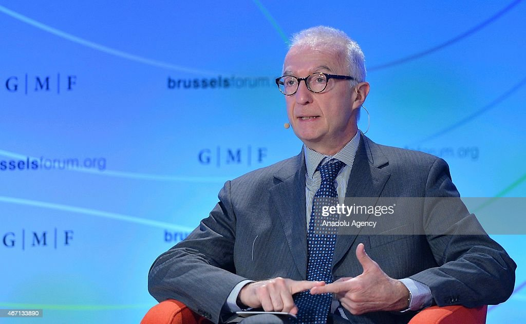 Counter-Terrorism Coordinator of European Council <a gi-track='captionPersonalityLinkClicked' href=/galleries/search?phrase=Gilles+de+Kerchove&family=editorial&specificpeople=4505334 ng-click='$event.stopPropagation()'>Gilles de Kerchove</a> speaks during 'Countering the New Wave of Terrorism at Home and Abroad' conference within Brussels Forum 2015, in Brussels, Belgium on March 21, 2015.