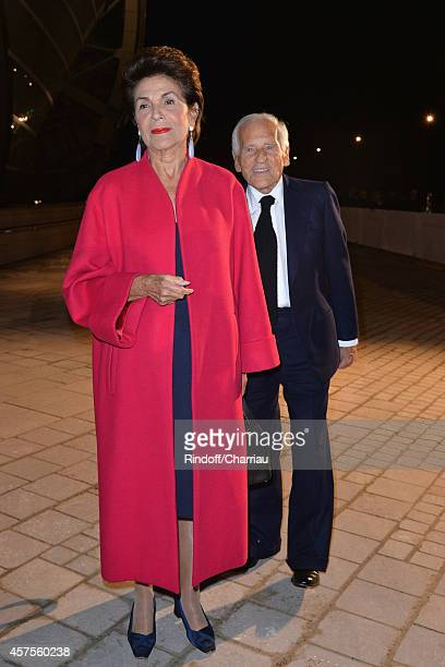 Countess and Count Jean d'Ormesson attend the Foundation Louis Vuitton Opening at Foundation Louis Vuitton on October 20 2014 in BoulogneBillancourt...
