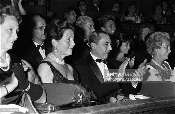 Countess and Count of Paris at the Olympia in Paris France on Octorber 01 1963