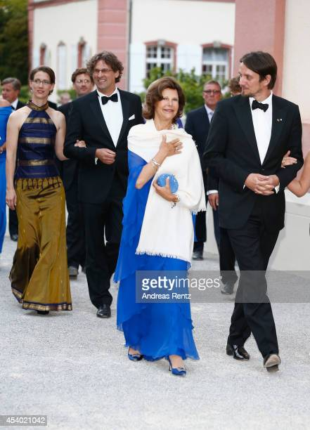 Countess Bettina Bernadotte Philipp Haug HRH Queen Silvia of Sweden and Count Bjoern Bernadotte attend the 5th Lindau meeting on Economic Scienes an...