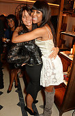 Countess Debonnaire von Bismarck and Naomi Campbell attend an event hosted by Naomi Campbell Burberry and TASCHEN to celebrate the launch of 'Naomi'...