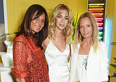 Countess Debonnaire von Bismarck Sabine Getty and Martha Ward attend a drinks reception and dinner in celebration of the Sabine Getty Showroom in...