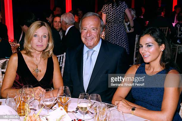 Countess Gerald de Roquemaurel Christian Langlois Meurinne and Marcia Moukadian attendS 'Friends of Quai Branly Museum Society' dinner party at Musee...