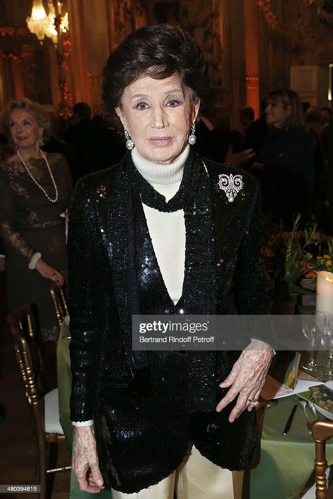 Countess Jacqueline de Ribes attends the dinner party of the Societe Des Amis Du Musee D'Orsay (The Friends of Orsay Museum Society) at Musee d'Orsay on March 24, 2014 in Paris, France.