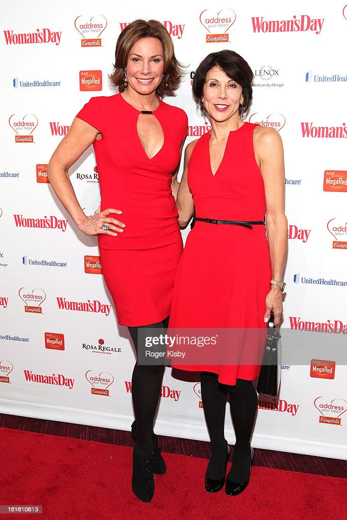Countess LuAnn De Lesseps and Camille Passaro attends the 10th Annual Red Dress Awards at Jazz at Lincoln Center on February 12, 2013 in New York City.