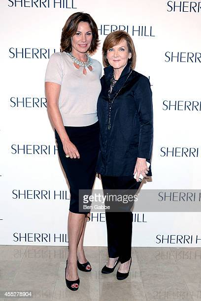 Countess LuAnn de Lesseps and fashion designer Sherri Hill attend the Sherri Hill Fashion Show during MercedesBenz Fashion Week Spring 2015 on...