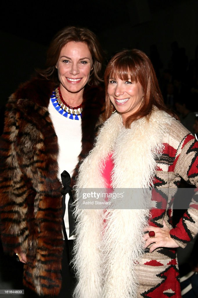 Countess LuAnn De Lesseps and <a gi-track='captionPersonalityLinkClicked' href=/galleries/search?phrase=Jill+Zarin&family=editorial&specificpeople=4436962 ng-click='$event.stopPropagation()'>Jill Zarin</a> attend the Zang Toi Fall 2013 fashion show during Mercedes-Benz Fashion Week at The Stage at Lincoln Center on February 13, 2013 in New York City.
