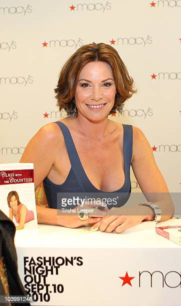 Countess Luann De Lesseps attend FASHION'S NIGHT OUT at Macy's Union Square on September 10 2010 in San Francisco California