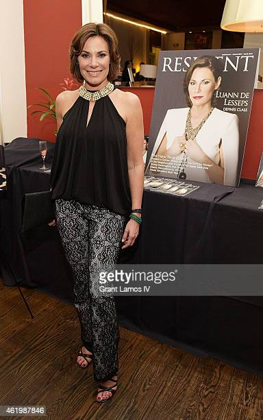 Countess Luann de Lesseps attends the debut of her newest clothing line Cruise 2015 at the Resident Magazine's New Year Edition launch event at...