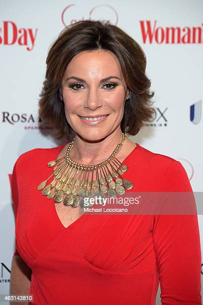 Countess LuAnn de Lesseps attends the Woman's Day Red Dress Awards on February 10 2015 in New York City
