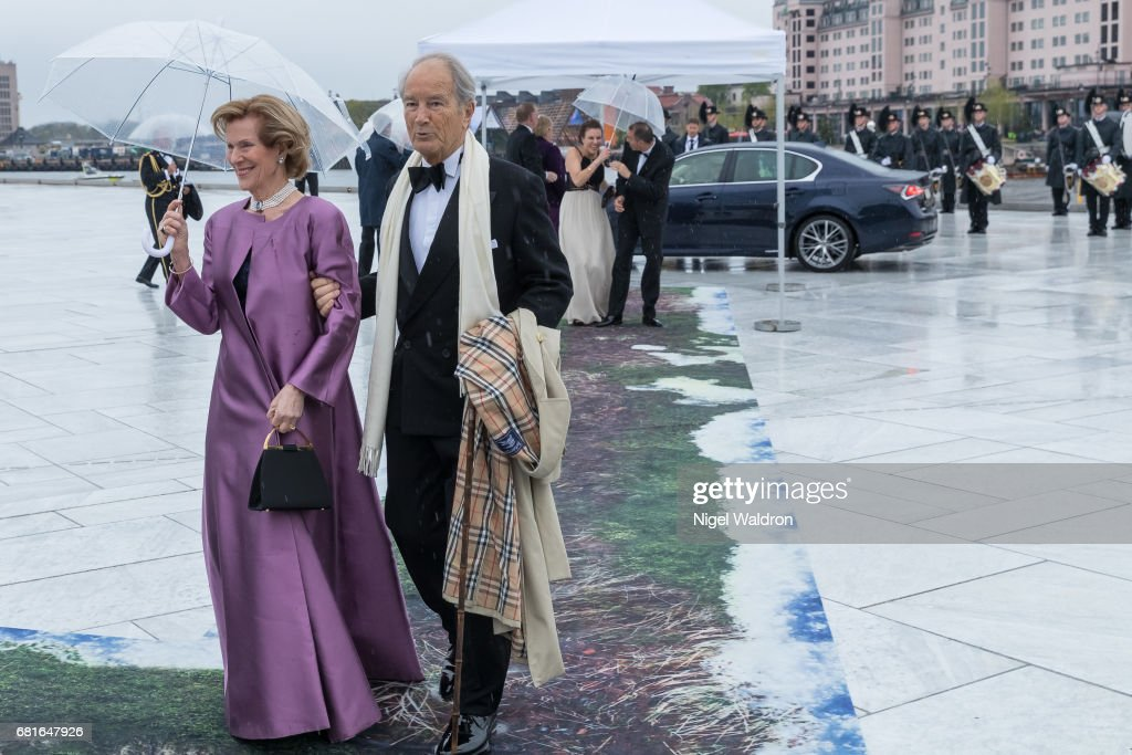 Countess Madeleine Bernadotte Kogevinas of Sweden and Bernhard Mach arrives at the Opera House on the occasion of the celebration of King Harald and Queen Sonja of Norway 80th birthdays on May 10 2017 in Oslo, Norway.