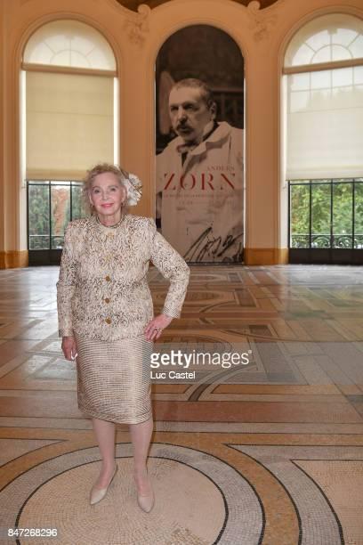 Countess Marianne Bernadotte de Wisborg attends the Swedish Painter Anders Zorn Exhibition at Le Petit Palais on September 13 2017 in Paris France