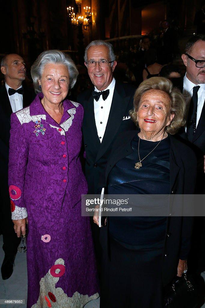 Countess Marina de Brantes, her husband Count Guy de brantes and Bernadette Chirac attend the Ballet National de Paris Opening Season Gala at Opera Garnier on September 24, 2015 in Paris, France.