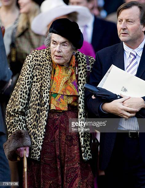 Countess Mountbatten of Burma Prince Philip's cousin accompanied by Mr MichaelJohn Knatchbull attends a service of thanksgiving at Westminster Abbey...