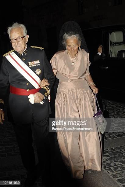Countess of Ripalda Concepcion Saenz de Tejada attends the wedding of Alvaro de Marichalar and Ekatherina Anikieva on September 25 2010 in Soria Spain