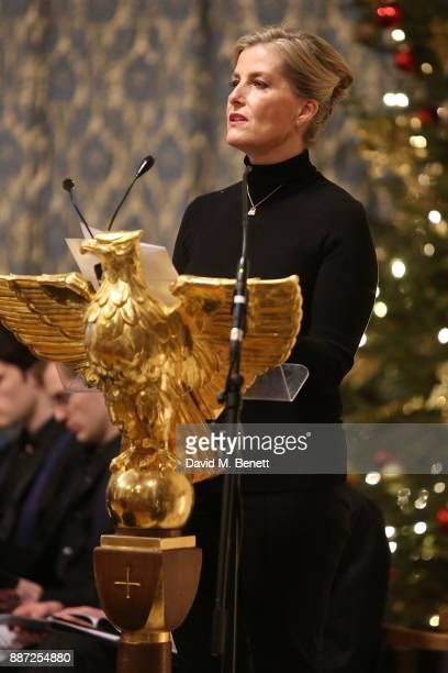 Countess of Wessex attends Childline's Merry Little Christmas 2017 at St Columba's Church on December 6 2017 in London England