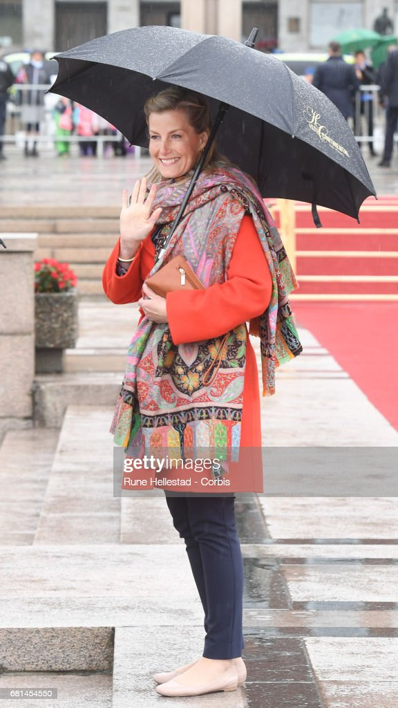 Countess Sophie Of Wessex attends a luncheon on the Royal yacht Norge, on the occasion of the celebration of King Harald and Queen Sonja of Norway 80 birthdays, on May 10, 2017 in Oslo, Norway.