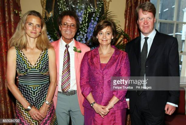 Countess Spencer Sir Cliff Richard Cherie Booth QC and Earl Spencer at the A Summer's Evening party hosted by the Earl Countess Spencer in aid of the...