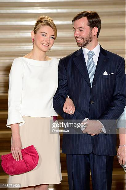 Countess Stephanie de Lannoy and Prince Guillaume of Luxembourg announce their engagement on April 27 2012 in Luxemburg City in Luxemburg