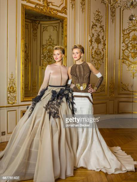 Countesses Victoria and Sarah von FaberCastell are photographed for Vanity Fair Magazine on November 28 2015 at the Palais de Chaillot in Paris...