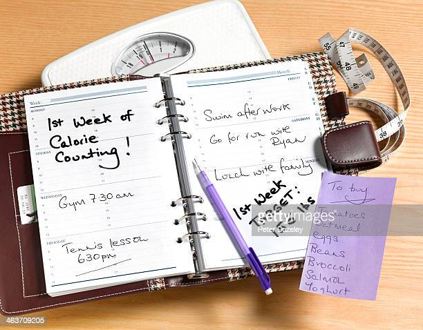 Counting calories diary