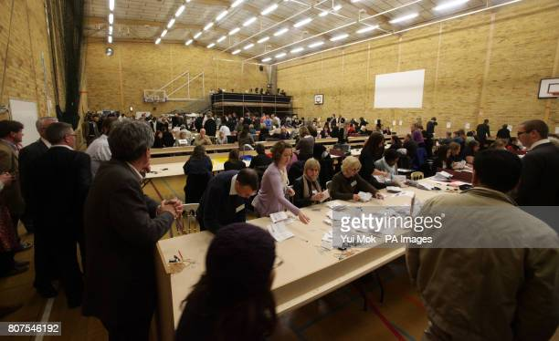 Counting takes place at the General election count for the London Borough of Richmond upon Thames at Richmond upon Thames College