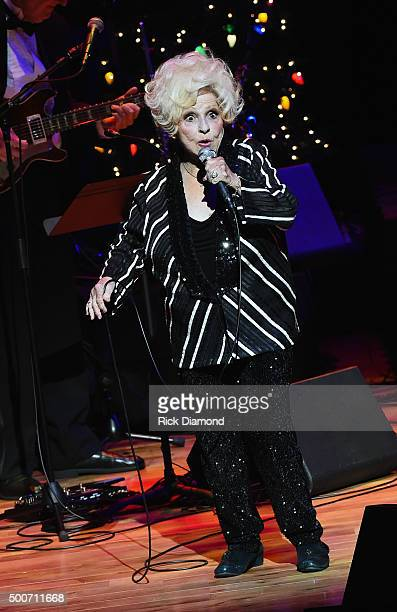 Country and Rock N Roll Hall of Fame member Brenda Lee performs at The Country Music Hall of Fame and Museum in the CMA Theater on December 9 2015 in...