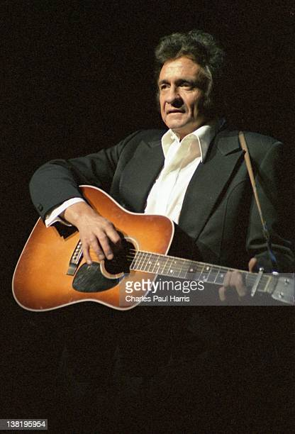 Country and Rockabilly singer Johnny Cash performs at the Brighton Centre on March 11 1979 in Brighton England