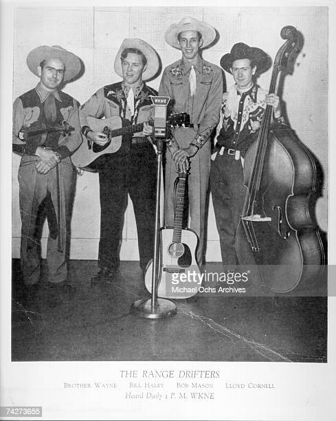 Country and Western group Brother Wayne Bill Haley Bob Mason and Lloyd Cornell pose for a promotional photo for their daily radio show in 1946 on...