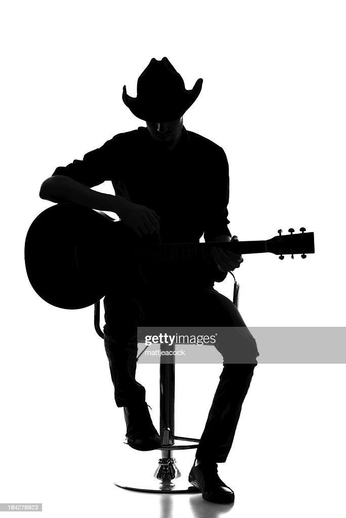 Country and western silhouette : Stock Photo