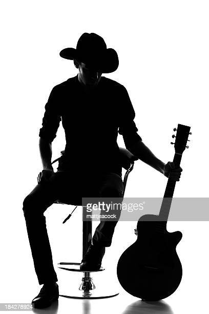 Country and western silhouette