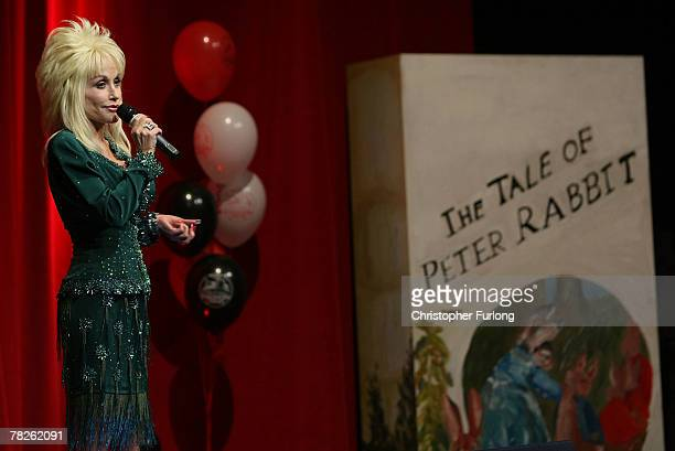 Country and western superstar singer Dolly Parton entertains the audience at the Magna Science And Adventure Park on December 5 2007 in Rotherham...