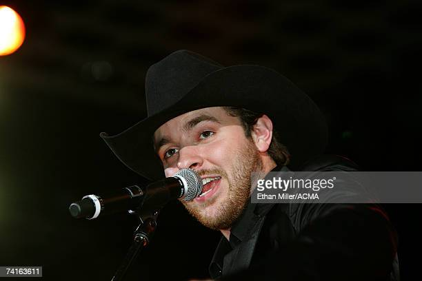 PRICING*** Country Artist Chris Young performs onstage during the 42nd Annual Academy Of Country Music Awards AllStar Jam held at the MGM Grand...
