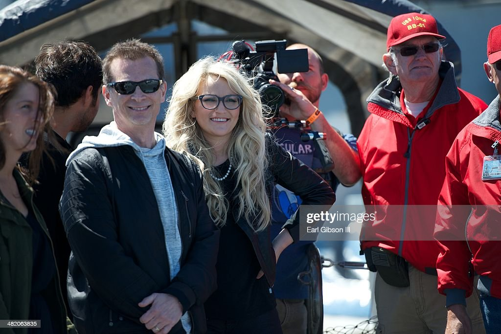 Country Artist Jamie Lynn Spears performs a free Concert on the Battleship Iowa on April 2 2014 in San Pedro California