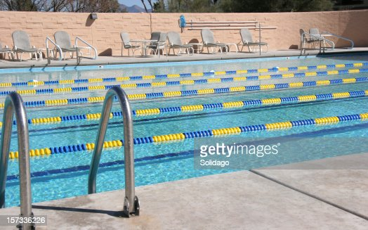 Country Club Pool With Swim Lanes
