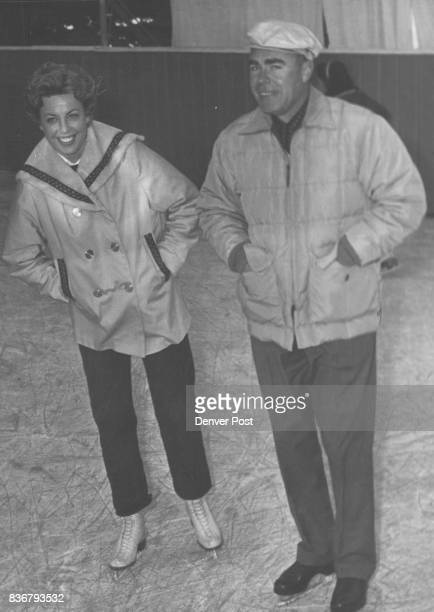 Country Club Skaters Fatherdaughter duo on the ice are Miss Sharon Kullgren and Elwood Kullgren The rink is open daily and many club members are...