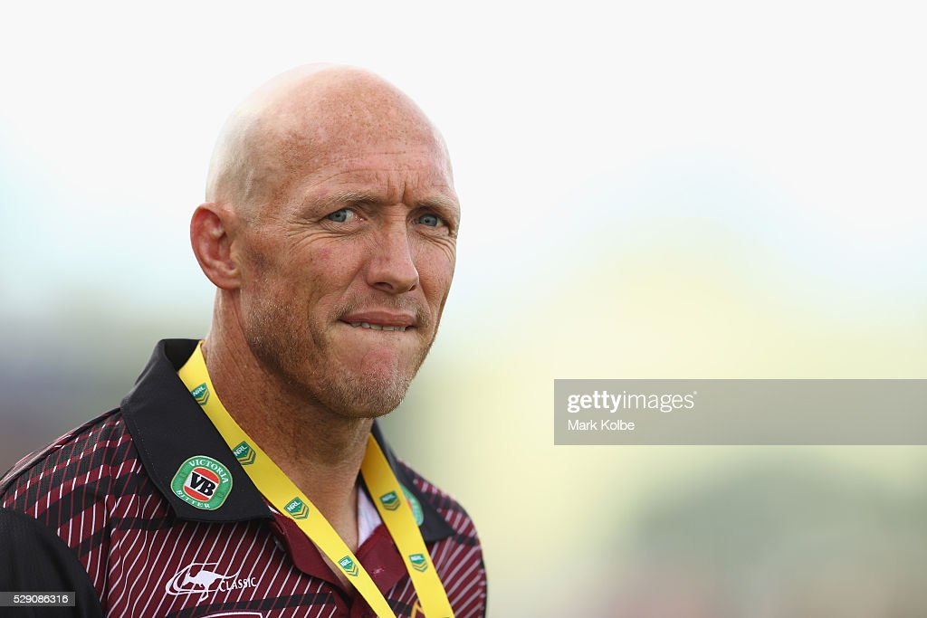 Country coach Craig Fitzgibbon watches on during the NSW Origin match between City and Country at Scully Park on May 8, 2016 in Tamworth, Australia.