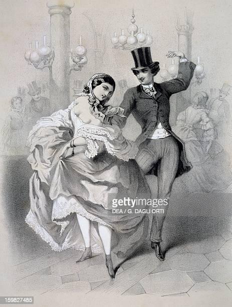 Country dance at Sale SainteCecille Print France 19th century Paris Hôtel Carnavalet