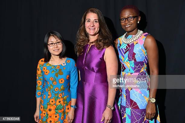 Country Director HKI Vietnam Pham Kim Ngoc honoree Melinda Gates and Regional Program Officer of HKI Africa Temina Mkumbwa attend as Helen Keller...